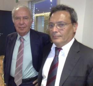 Claudio Cavazza, presidente Sigma tau e Roberto Camerini, centro ricerche Sigma Tau