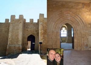 Il Castello di Naro e i futuri sposi Andrew Smith ed Anne Marie Laing
