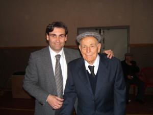 Alfonso Cottone di 105 anni con il nipote sindaco Piero Puccio (1)