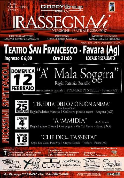 locandina A malasoggira commedia Favara